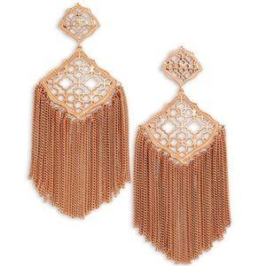Kendra Scott RG Kimora Fringe Earrings NWOT